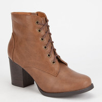 Soda Korman Womens Boots Tan  In Sizes