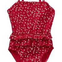 Old Navy Star Print Swimsuits For Baby