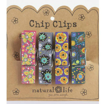 Purple And Teal Chip Clips