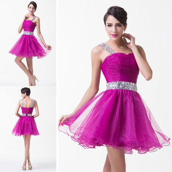 FREE SHIP SHORT Prom Gown Bridesmaid Evening Party Formal Lady Girl Club Dresses