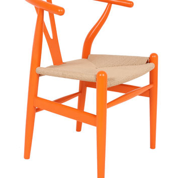 Control Brand Wishbone Chair - Orange