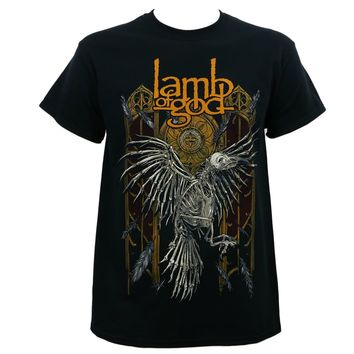 LAMB OF GOD Band Crow Skeleton T Shirt