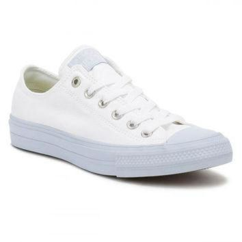 DCKL9 Converse All Star Chuck Taylor II Womens Ox White/Porpoise Trainers