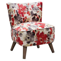 Barnes Modern Chair, Red Multi, Accent & Occasional Chairs
