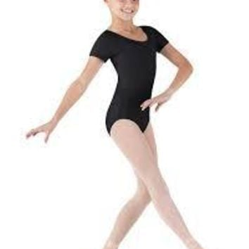 Bloch Toddler's Cap Sleeve Leotard with Dimante Tear Drop cut out