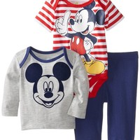 Disney Baby Boys'  Mickey 3 Piece Pant Set