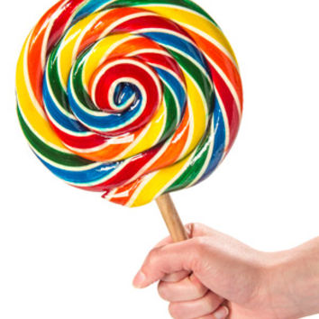 Giant Lollipop: Traditional style sucker the size of your face.