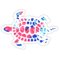 Lilly Pulitzer turtle by anniedead