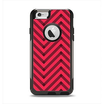 The Red & Black Sketch Chevron Apple iPhone 6 Otterbox Commuter Case Skin Set