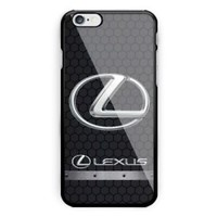 Lexus Hexa Carbon Silver Logo Automotive iPhone 7 and 7+ Hard Plastic Case Cover