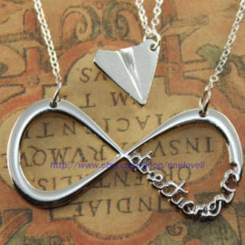 One Direction,paper airplane, Harry Styles Inspired Unisex Paper Airplane Charm Necklace