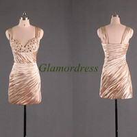 short slim prom dresses with sequins stretch satin dress for party modern sexy v-neck cocktail gowns unique christnas dress