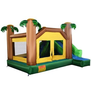 USA Delivery Inflatable Moonwalk Jungle Bounce House Jumper Bouncy Jump Bouncer Castle