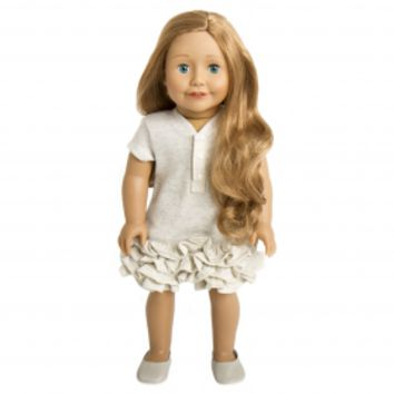 Treasured Dolls - Light Skin with Curly Light Brown Hair and Beautiful Irish Green Eyes