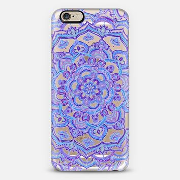 Radiant Cobalt & Royal Purple Mandala on Transparent iPhone 6 case by Micklyn Le Feuvre | Casetify