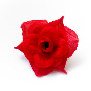 Red Rose Hair Flower