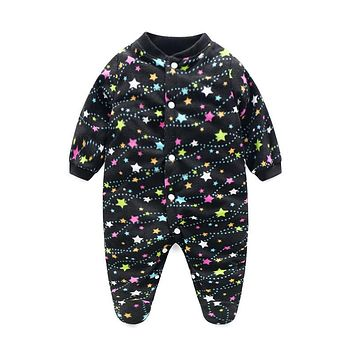 Unisex Baby Clothes Baby Boy Girl Footed Rompers Infant Animal Baby Romper Long Sleeve Fleece Sleep Clothes Baby Pajamas Newborn