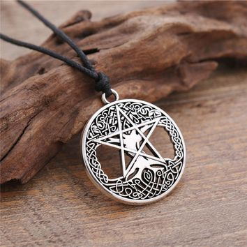 Pentacle Tree of Life Necklace Wicca Necklace Silver Or Gold Color