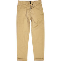 River Island Boys tan chino pants