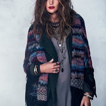 Free People Suede Edge Fringe Shawl
