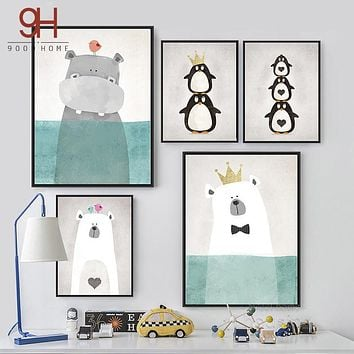 Cartoon Animals Canvas Art Print Painting Poster,  Wall Picture for Home Decoration,  Wall Decor FA400