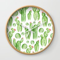 Cactus Garden Wall Clock by Heather Dutton
