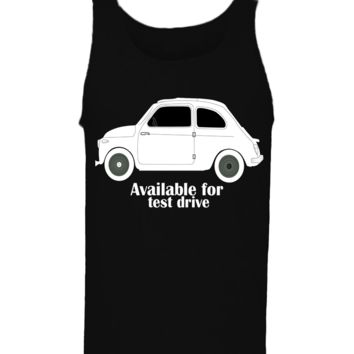 'Taxi Available For Test Drive' Funny Slogan Men Women Unisex Tank Top Vest Gym Summer Singlet (82) Black