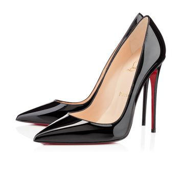 Sale Christian Louboutin Cl So Kate Black Patent Leather 120mm Stiletto Heel Fw13