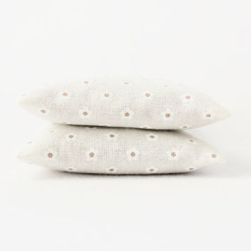 White Botanical Sachets Storage Freshener Taupe Dots Jasmine Lavender and Rose