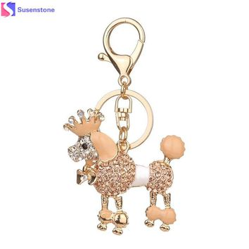 Dog Rhinestone Tassel For Keychain