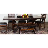 Sunny Designs Crosswinds Rectangular Trestle Table In Weathered Mocha