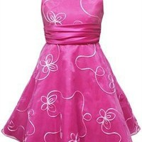 Girls Spring Dresses -Fuchsia Butterfly - Size 10 -E459292
