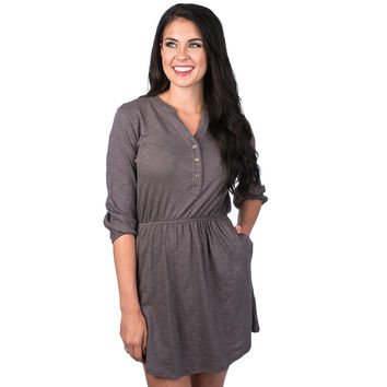 Virginia Slub Dress in Grey by Lauren James
