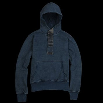 UNIONMADE - Kapital - Panel Placket Hooded Sweat in Indigo