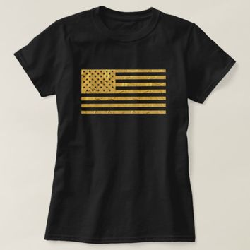 USA Gold Flag T-Shirt