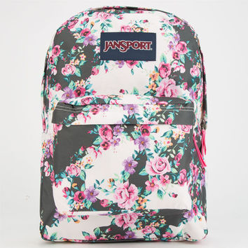 Jansport Superbreak Backpack Multi Grey Floral Flourish One Size For Women 25284114901
