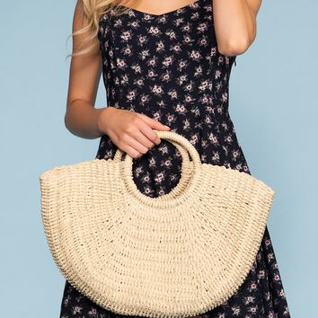Keilani Straw Bag - Ivory