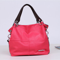 Leather Shoulder Bags Stylish Patchwork Bags Messenger Bags [6581996487]