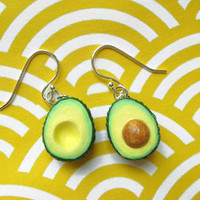 Food Jewelry - Avocado Earrings