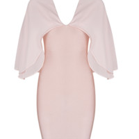 Rain Blush Cape Mini Dress