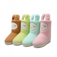 Womens Cute Fuzzy Lamb Winter Boots