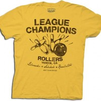 The Big Lebowski Bowling League Champions Rollers Gold Adult T-shirt  - The Big Lebowski - | TV Store Online