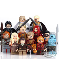 12pcs/set Game of Thrones Figure Jon Snow Tyrion Lannister House of Stark Winterfell Poster Toy Sword Funko Pop Bracelet Mug