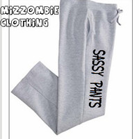 SASSY  SWEATPANTS women ladies teen gym, workout, lounging pants