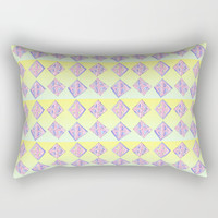 square abstraction-mutlicolor,abstraction,abstract,fun,rectangle,square,rectangled,geometric,geometr Rectangular Pillow by oldking