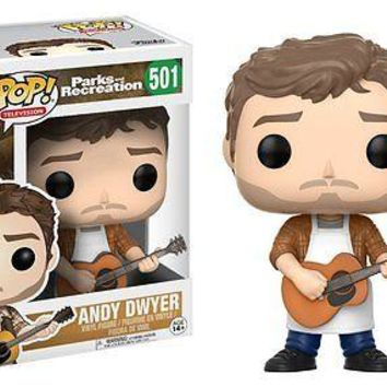 "Funko Pop Andy Dwyer 3.75"" Vinyl Figure Parks and Recreation IN STOCK"