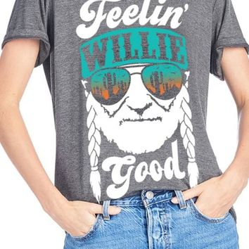 Women's Feelin' Willie Good Gray T-Shirt