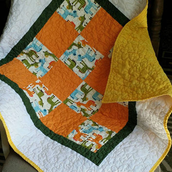 baby quilts handmade / baby girl quilt / baby boy quilt / crib Bedding /  homemade quilts for sale / patchwork quilt