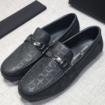 Armani Men Fashion Casual Leather Loafers Shoes
