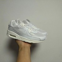 """Nike Air Max 90"" Unisex Casual Fashion Solid Color Air Cushion Sneakers Couple Running Shoes"